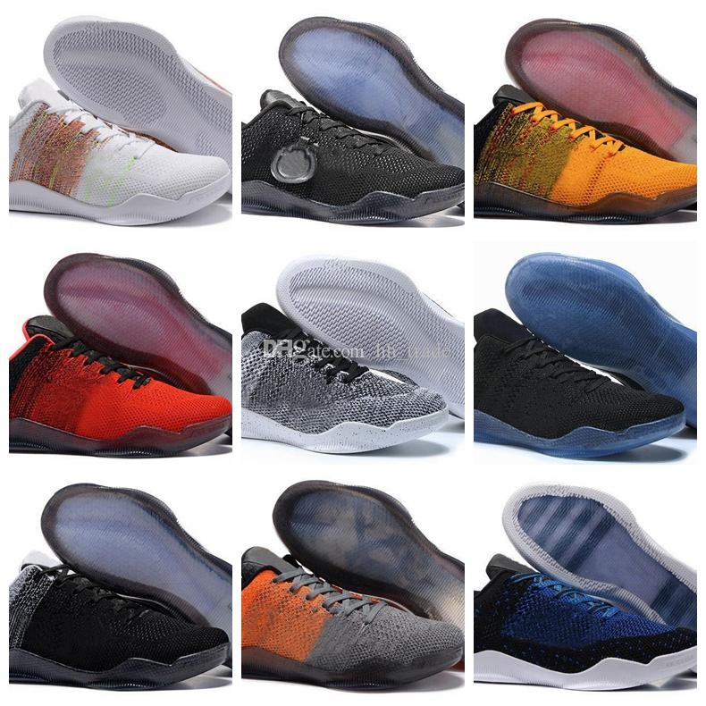 0279cf50e520 2018 High Quality Kobe 11 Elite Low Mens Basketball Shoes Red Horse Oreo KB  11s Mentality 3 3M Black Wine Red Training Boots Sports Sneakers Shoe Shops  ...