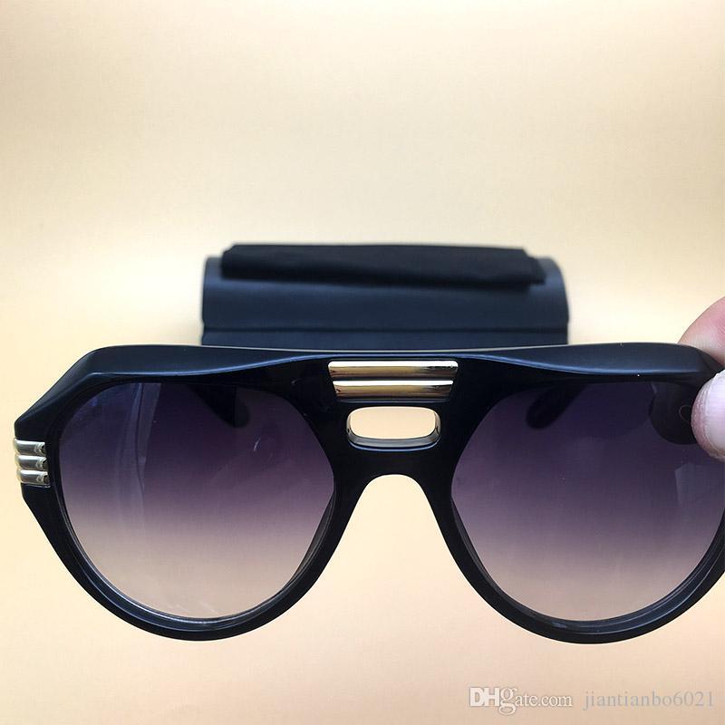 Compre Mulheres Marca Designer Óculos De Sol Preto Acetato Armação Óculos  Oval Lente New Eyewear 2018 Verão Óculos De Sol Gradiente Sombra Oculos De  Sol 657 ... 96e7606966