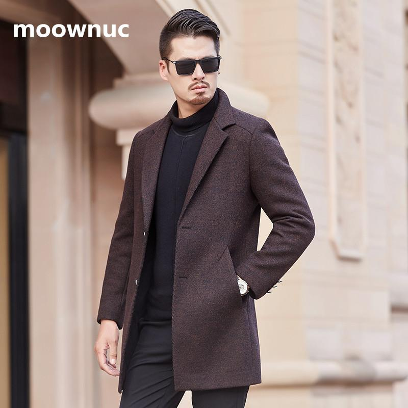 2019 Mens Woolen Coat 2018 Men Fashion Jackets Coats Slim Fit