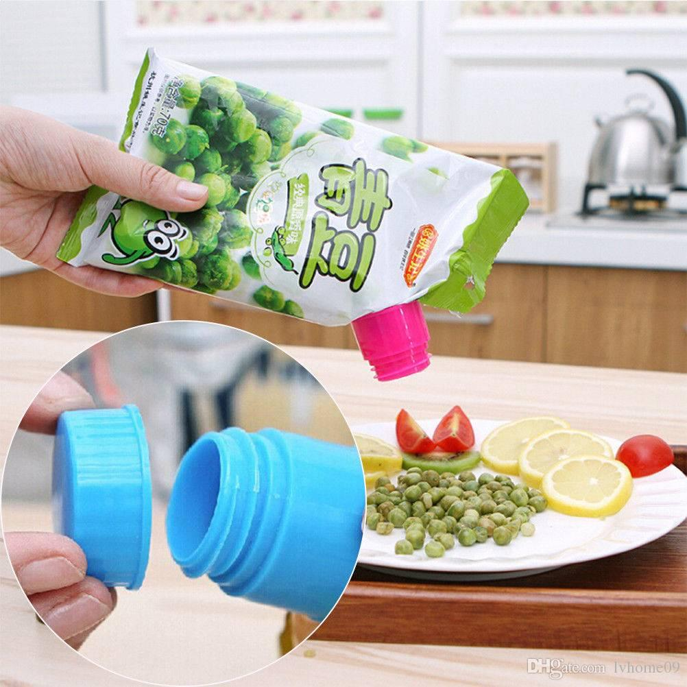 creative healthy food seal clip bag clip storage moisture sealing clamp  colorful clamp sealer convenient food kitchen tools color random