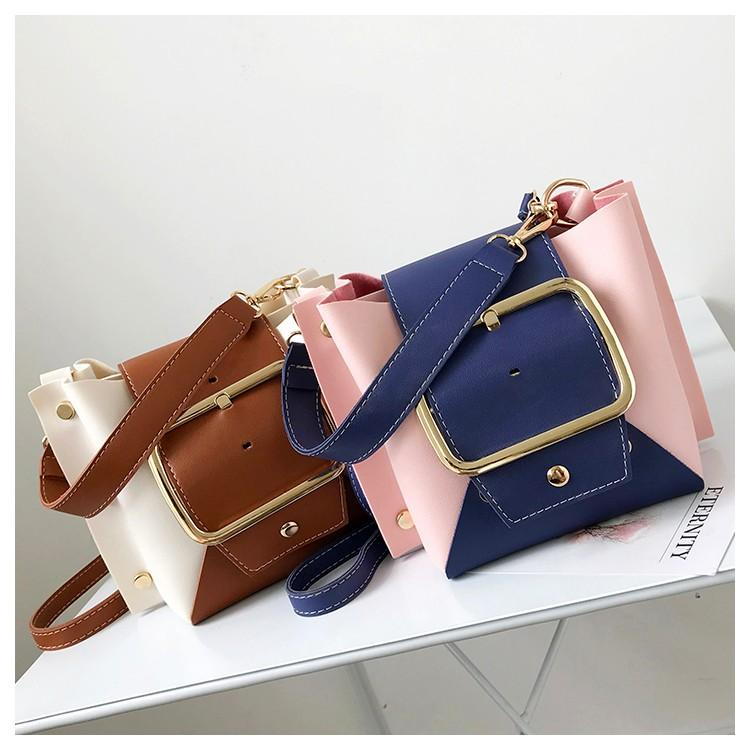 Messenger Bags for Women PU Leather Rivet Fashion Handbags 2018 New Arrival  Street Style Crossbody Hit Color Shoulder Bags Fashion Messenger Bag Women  Top ... e7a9eaf1a8