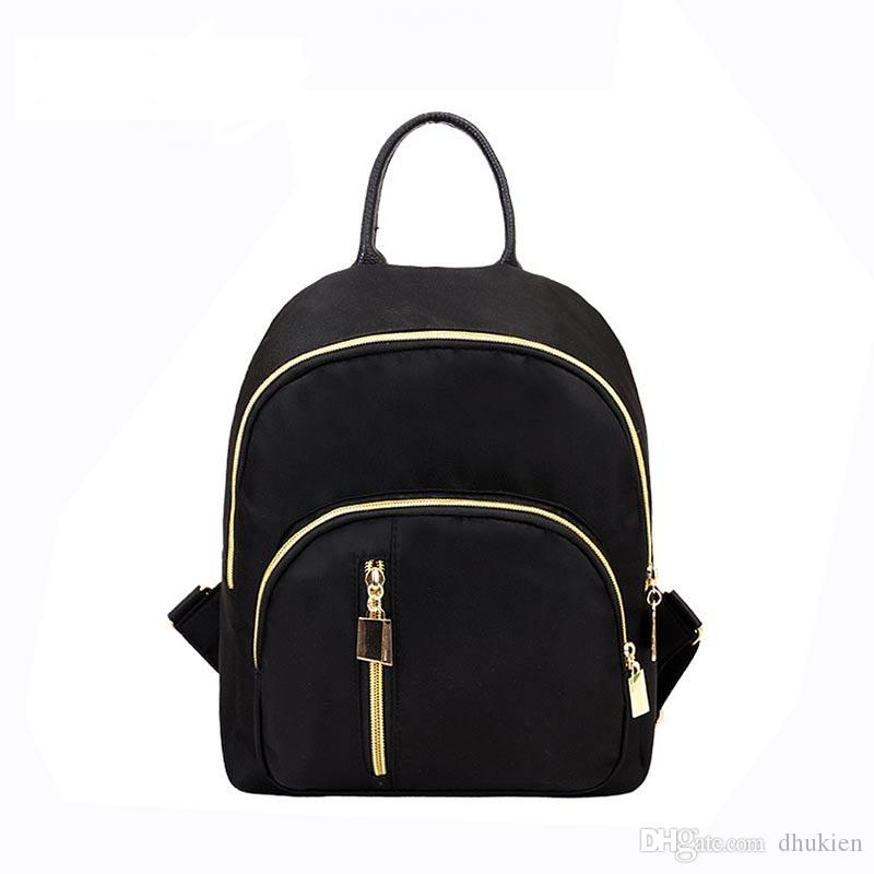 717f6b7124f8 Fashion Nylon Backpack Women Waterproof Small Backpacks Female School Bags  For Teenager Girls Feminia Mujer Mochila Bags Rucksack From Dhukien
