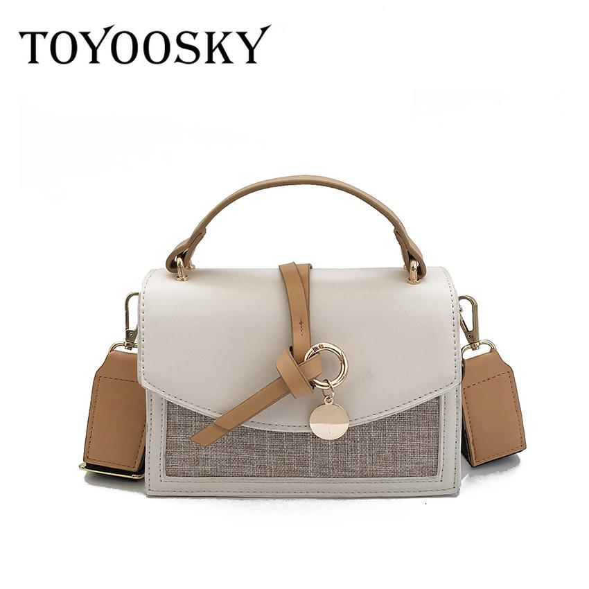 888a687d01b2 TOYOOSKY High Quality Small Ladies Messenger Bags Leather Shoulder ...