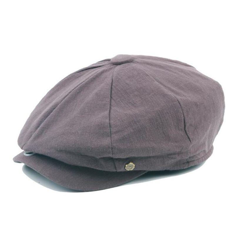 2019 2018 Autumn Newsboy Cap Men Women Eight Panel Hat Cotton Linen Baker  Boy Caps Retro Apple Hats Solid Colors H3 From Xiajishi a24ca6df1ac