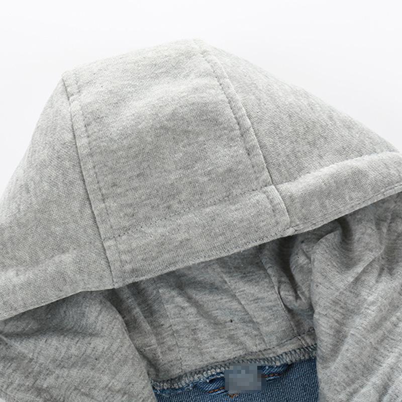 2016 Niños Chaqueta de mezclilla Niños con capucha Jean Chaquetas Niñas Ropa de niños abrigo de bebé Ropa de abrigo Nueva marca de fábrica