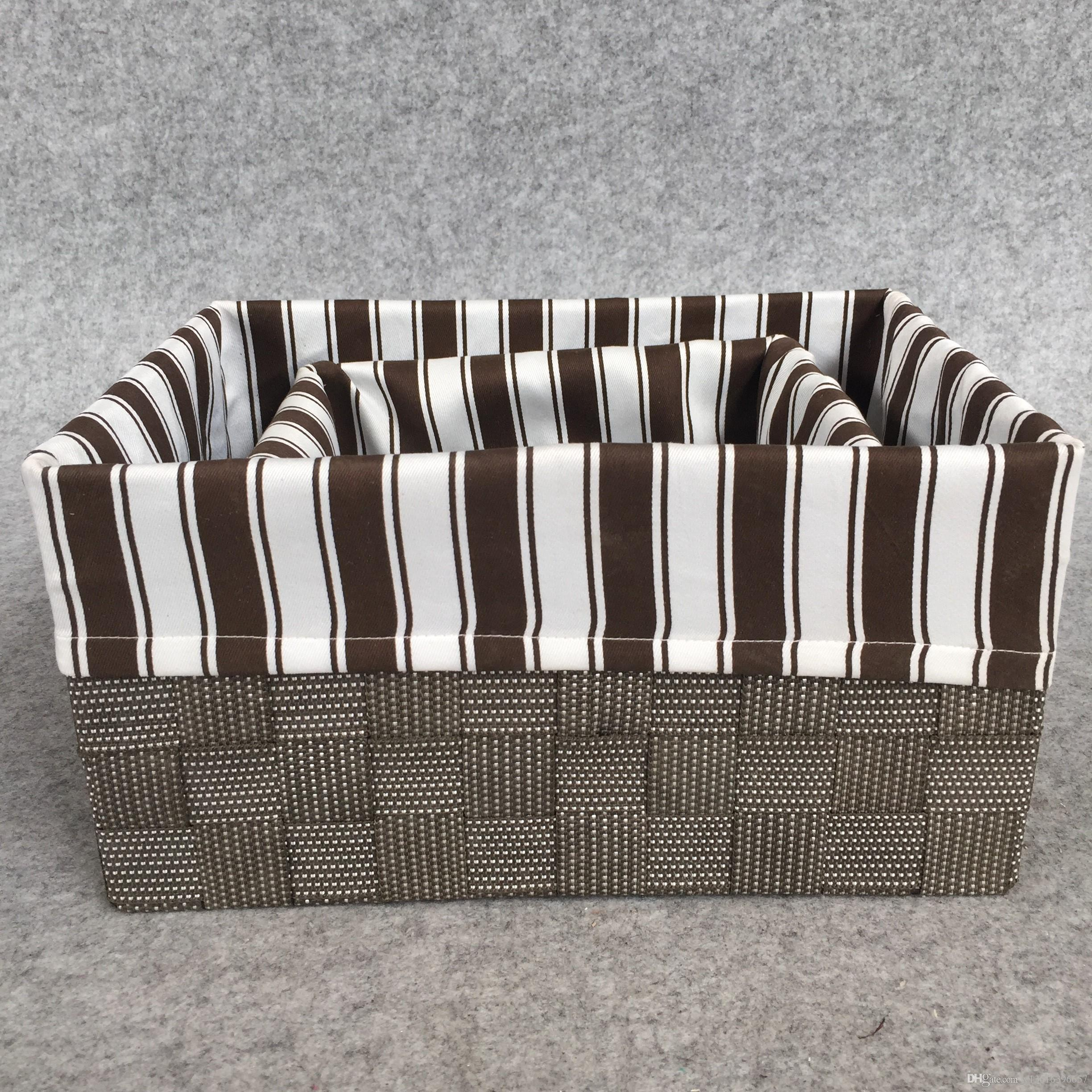 Factory Best Sellingt wonve Handmade Weaving Storage Basket with lid Home clothes barrel High quality best selling