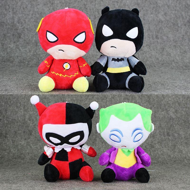 2019 4styles Avengers Plush Toys The Flash Batman Harley Quinn The