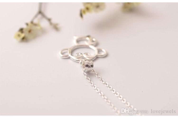 Charms 925 sterling silver pendant necklace Monkey jewelry necklace chain Fashion sets jewelry valentines day gift women China Direct