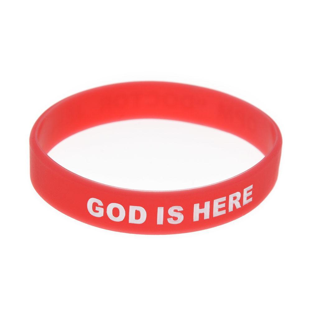 adentro insignia llenada OPM pulsera Decoración doctor Jesús de caucho de silicona para la Religión regalo de la promoción Fe