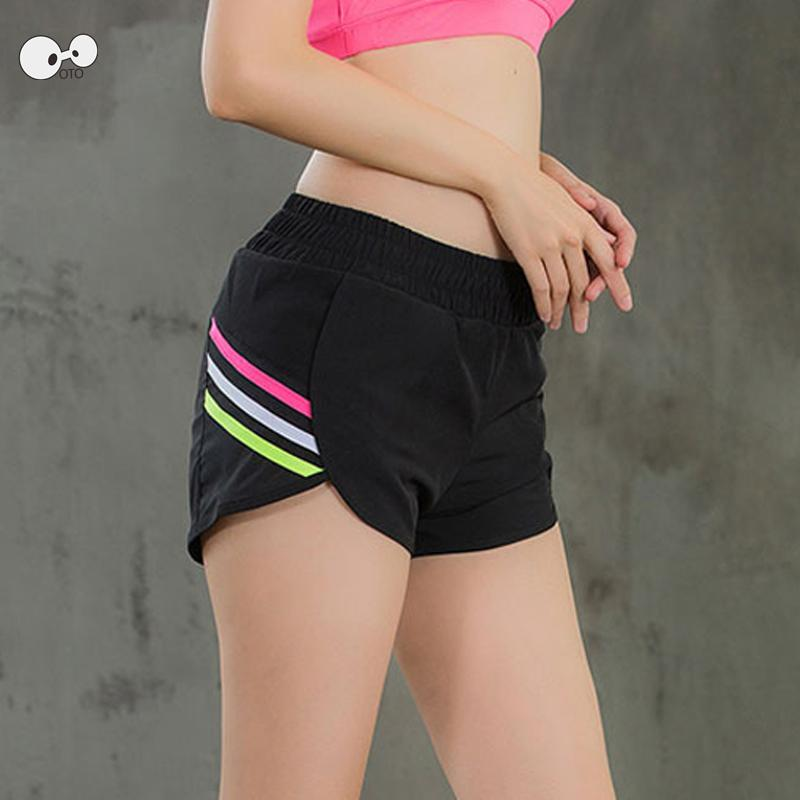 Womens Running Shorts 2 In 1 Yoga Tights Short Women S Double Layer Gym  Sport Short Panties Quick Dry Fitness Ladies Sportswear UK 2019 From Stem d8d7eb4ffc