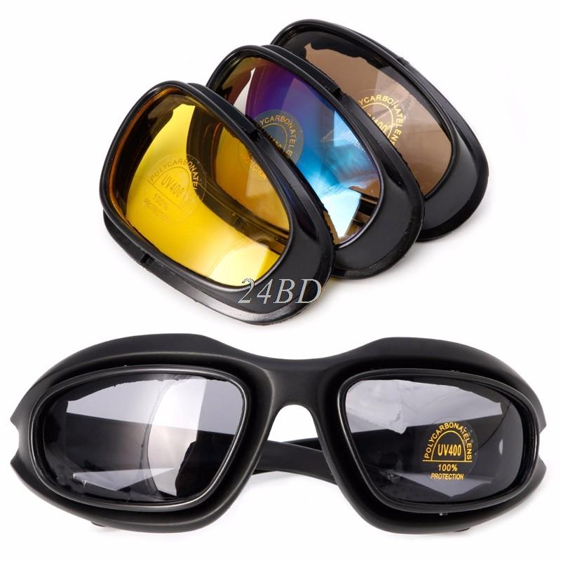c7b5a967f5 Polarized Motorcycle Lens Sun Glasses Goggles Sports Wrap Riding ...