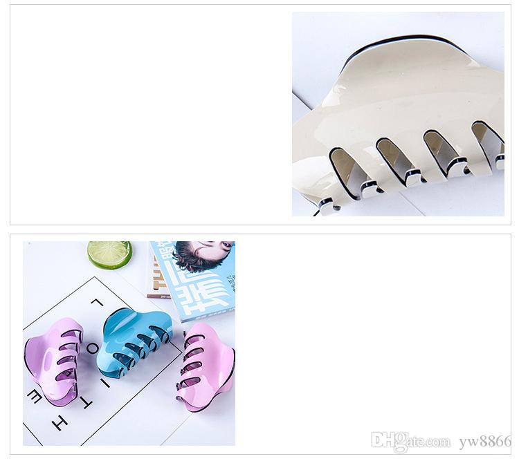 Women Girl Mini Acrylic Hair Claw Brand Designer Hair Clip Clamp Party Prom Jewelry Bobby Pins Accessory