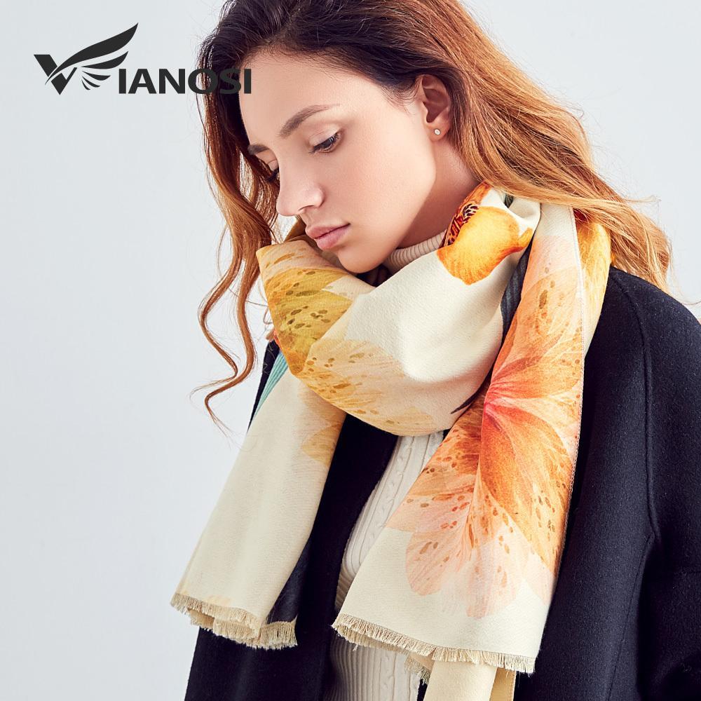 Vianosi Newest Design Bandana Winter Scarf Women Shawls Thicken Warm Shawl Ws 06 Scarves Wool Brand Woman Wrap Printing Hijab S925 Crochet Baby Hats Ladies