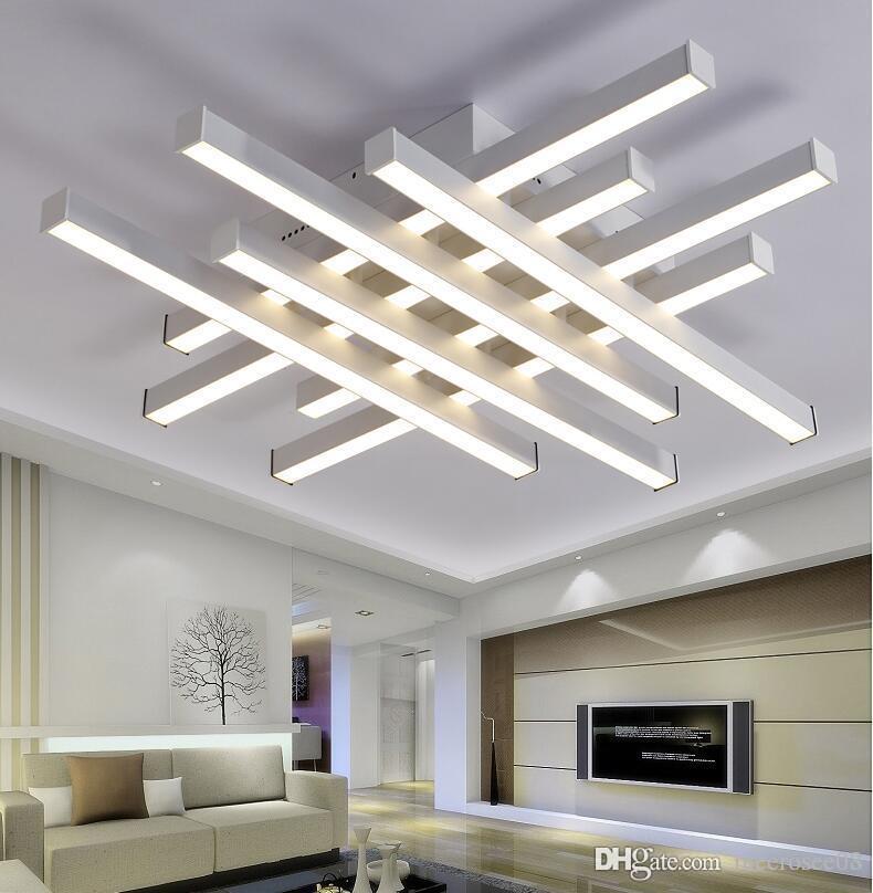 Moderne LED-Decken-Kronleuchter Leuchten weißen schwarzen Körper kreative  Decke Kronleuchter Lampe für Schlafzimmer Wohnzimmer
