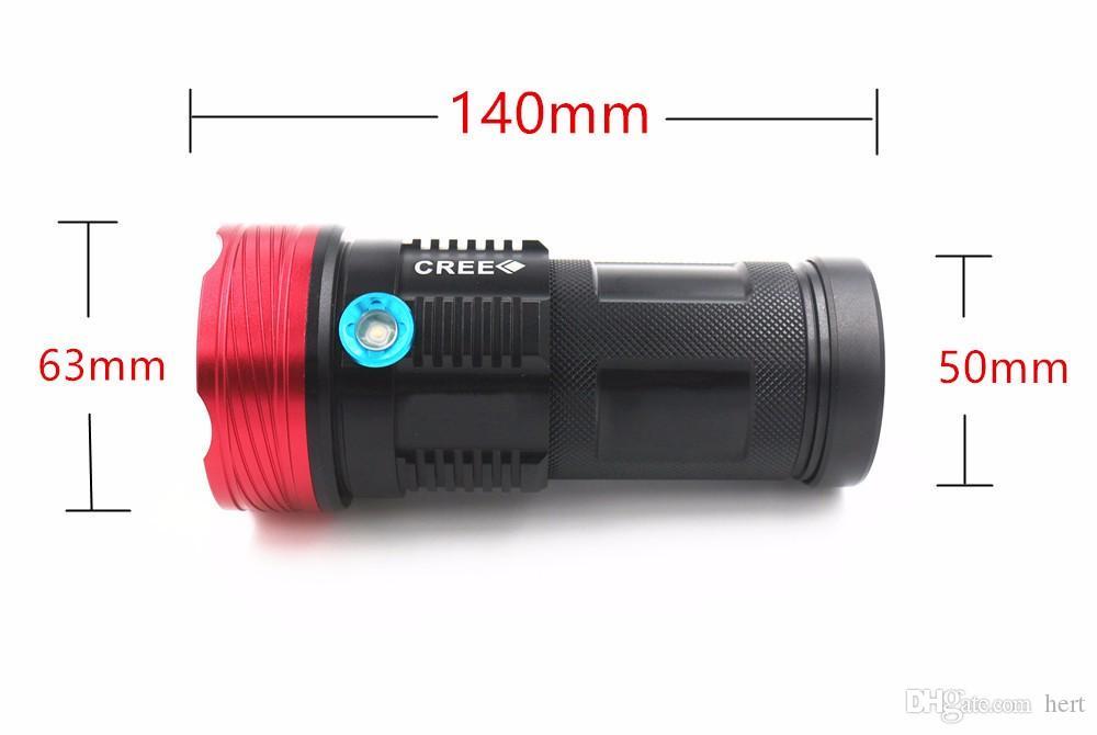 Más nuevo táctico alta potencia 15000 lúmenes Skyray King 9T6 LED FlashLamp 9 x Cree XM-L T6 LED linterna antorcha para acampar, senderismo trabajo de caza