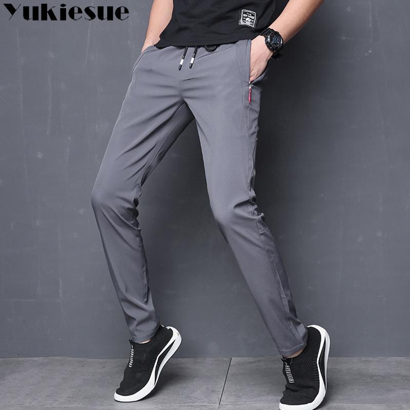 2019 Men S Pants Streetwear High Waist Loose Mens Pants Sweatpants