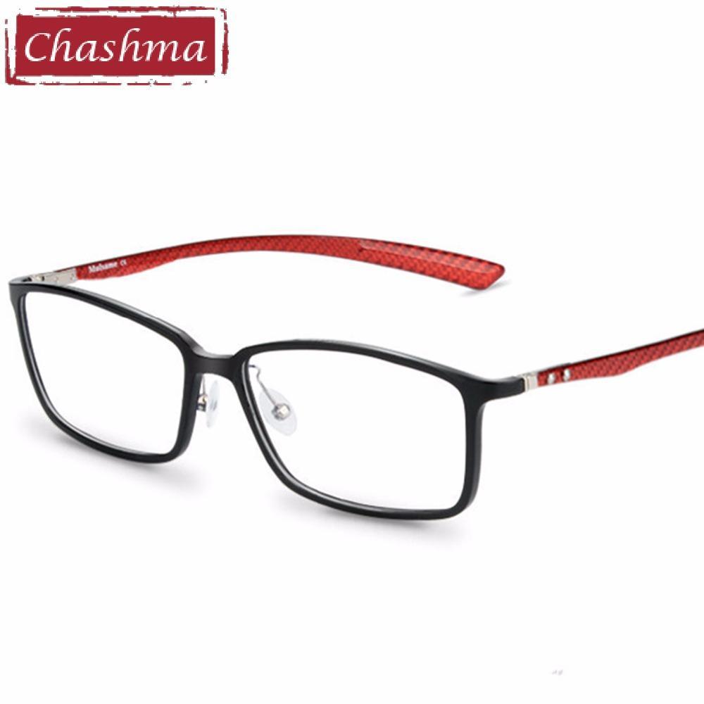 c170abe47d82c Compre Chashma Marca De Fibra De Carbono Masculino Armação Armacao Oculos  De Grau Óculos De Qualidade Quadros De Óculos De Armação Feminina Para  Miopia De ...