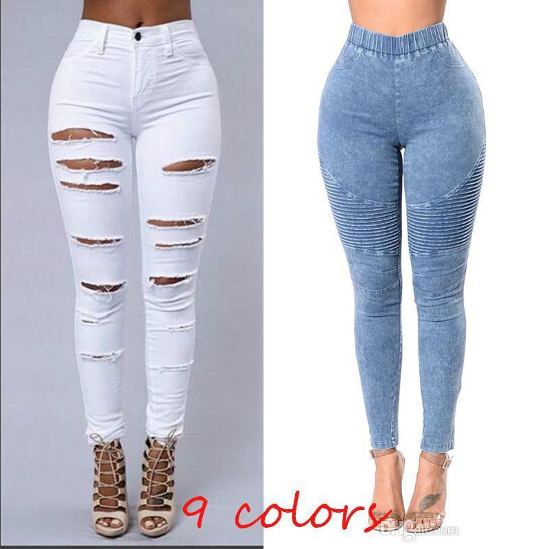 eaf6e892039ef 2018 Women Skinny Jeans Push Up High Waist Pants Ladies Casual Slim ...