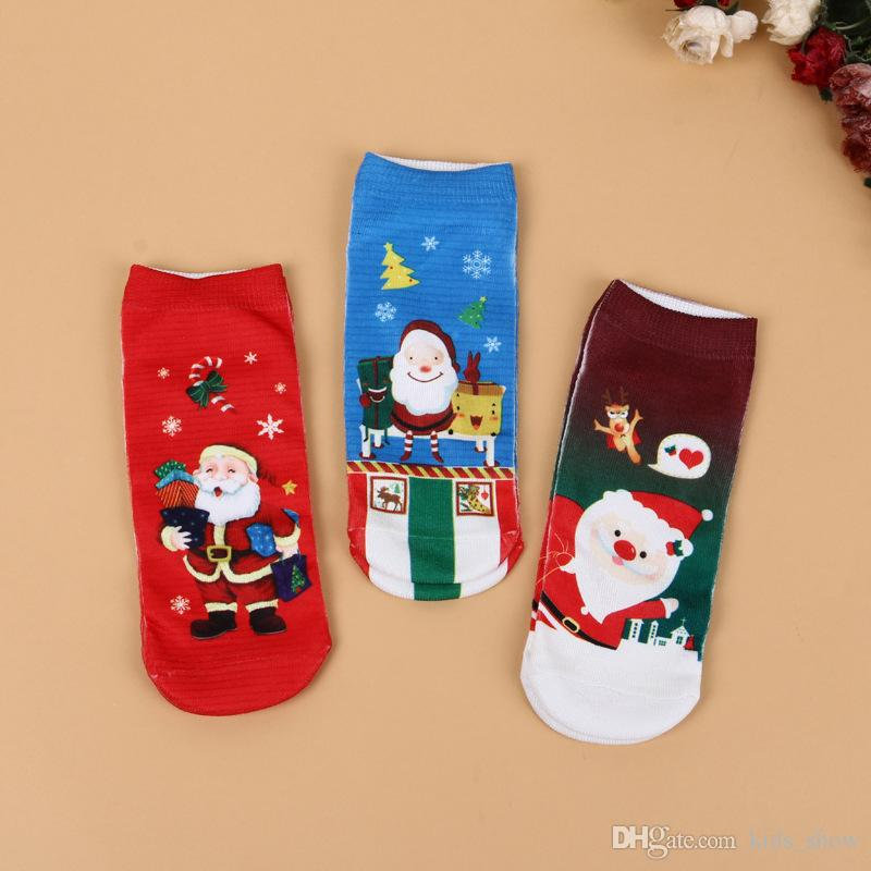 Fashion Christmas Printed Sock for Unisex Kids Boys and Girls Christmas Funny Ankle socks Cute Deer santa claus Baby catrtoon Xmas Socks