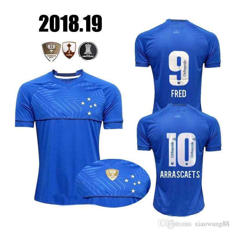 2019 2018 2019 CRUZEIRO Soccer Jersey Home 18 19 DE ARRASCAETA Sassa  ROBINHO THIAGO NEVES Football Shirt Cruzeiro Home Brazilian Club Camisas  From ... 1f85c41179cb4
