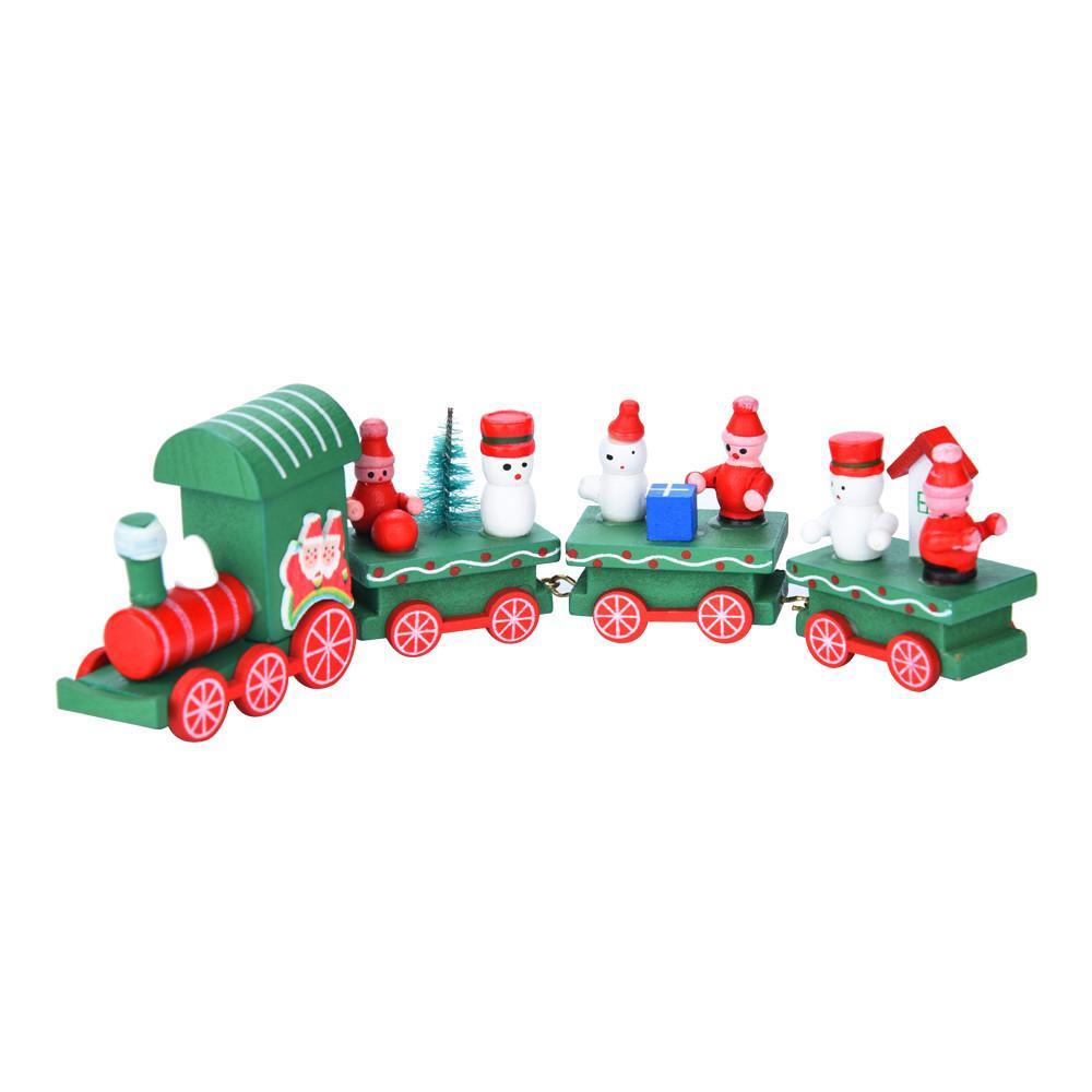 Großhandel Neue Nette 4 Stücke Holz Weihnachten Weihnachten Zug ...