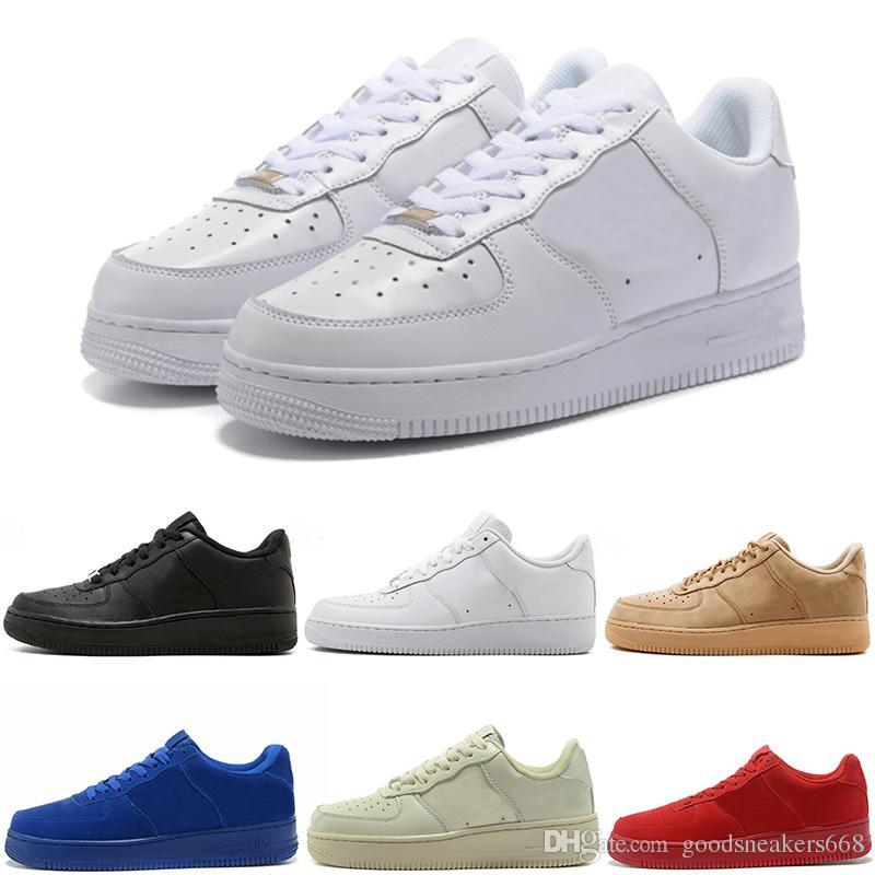 8ff7b849edebe Compre Nike Air Force Zapatillas De Correr Para Hombre Para Mujer 1 Hombres  Bajos Zapatillas De Deporte Blancas De La Marca Entrenadores One Sports ...