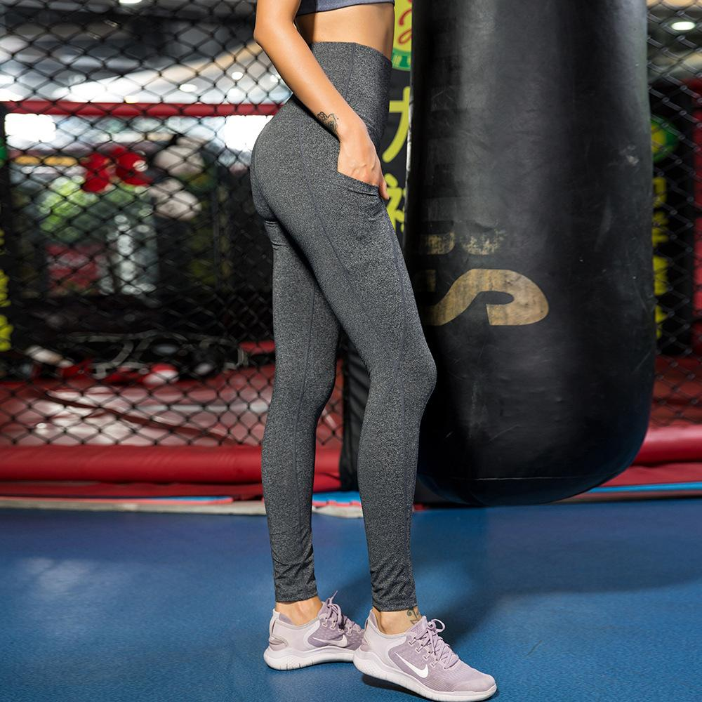 7913e8120c03e9 High Waist Hip Yoga Pants Women Fitness Running Pocket Wicking Quick Dry  High Elastic Tight Trousers Yoga Fitness Online with $19.87/Piece on  Shengye365's ...