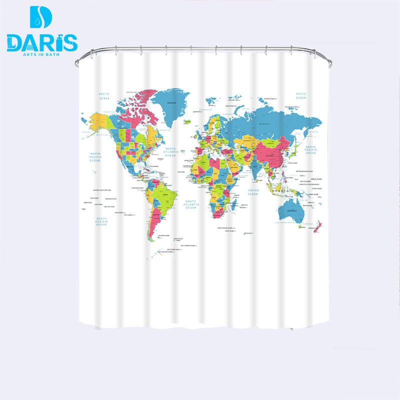 2018 wholesale daris 2017 new arrival world map printed bathroom 2018 wholesale daris 2017 new arrival world map printed bathroom curtain waterproof moldproof polyester shower curtain fabric from lantor 3543 dhgate gumiabroncs Image collections