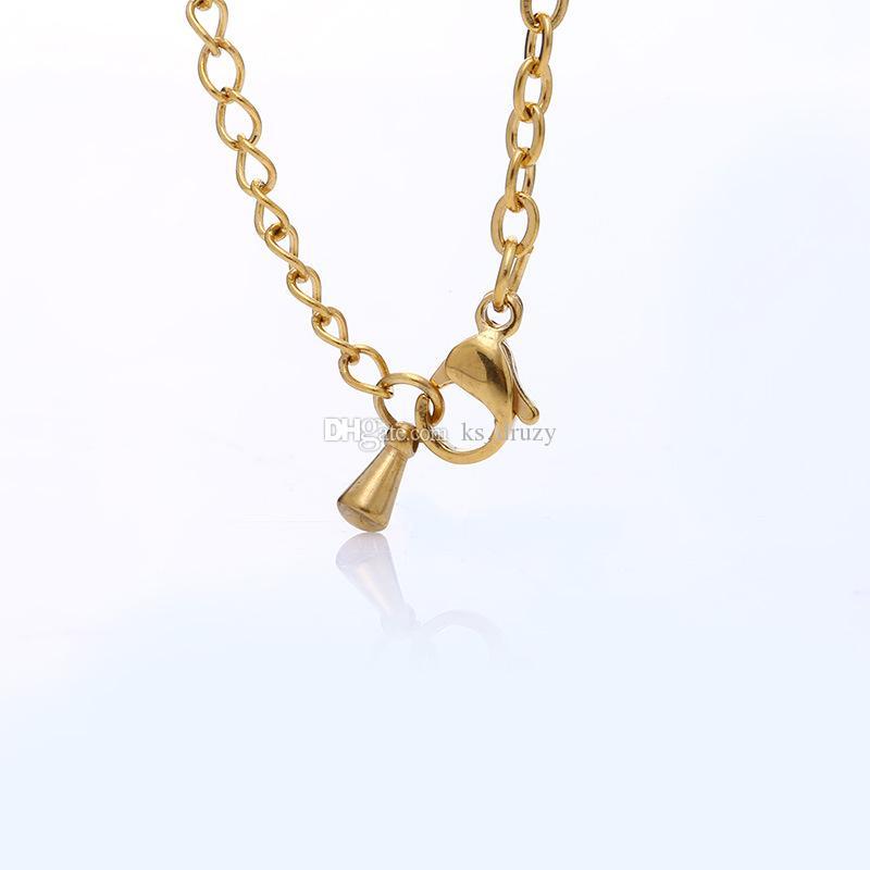 Braccialetti di fascini di fascini del trifoglio della paglia di quattro fogli del braccialetto dell'acciaio inossidabile di modo il buon regalo del partito dei monili dell'amante delle donne