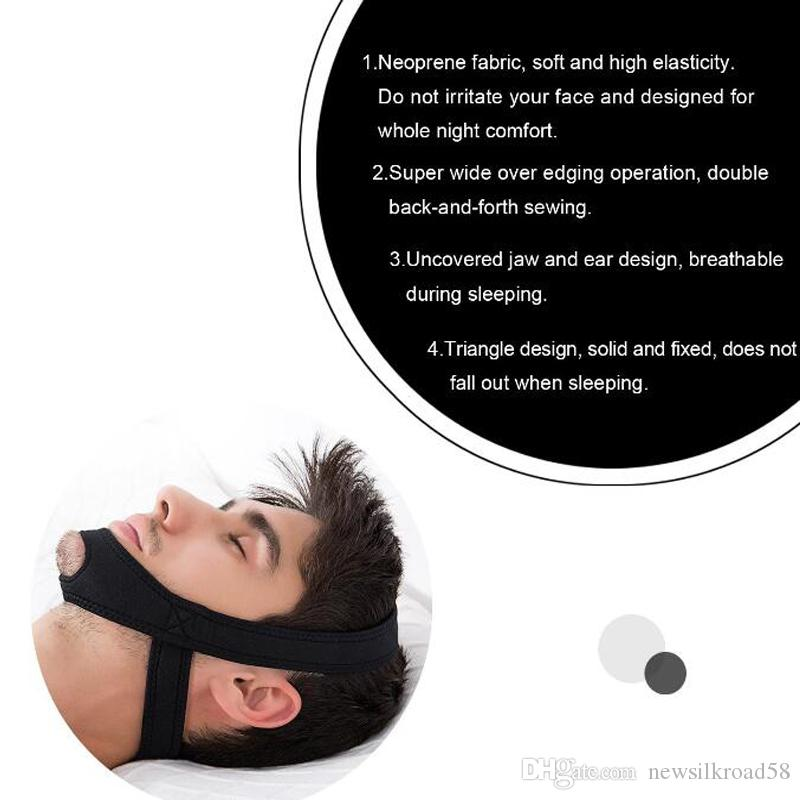 NEW Professional Flexible Anti Snore Stop Snoring Chin Straps Snore Stopper Belt Breathing Snore Stopper Better Sleep Health Care Tools