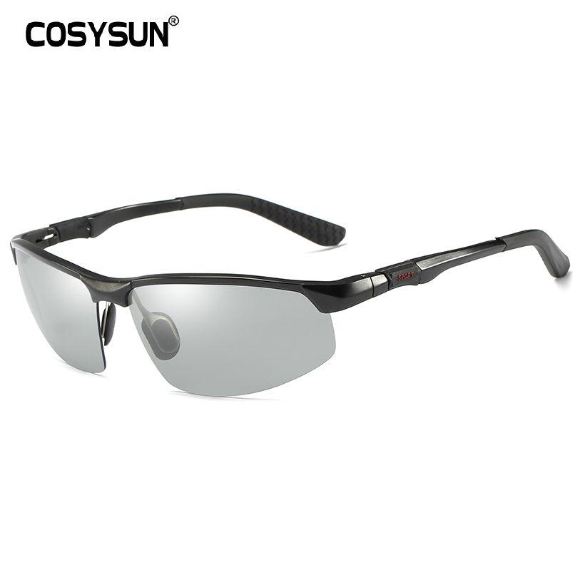 b87a24131a COSYSUN Brand Driving Glasses Photochromic Polarized Sunglasses Men ...