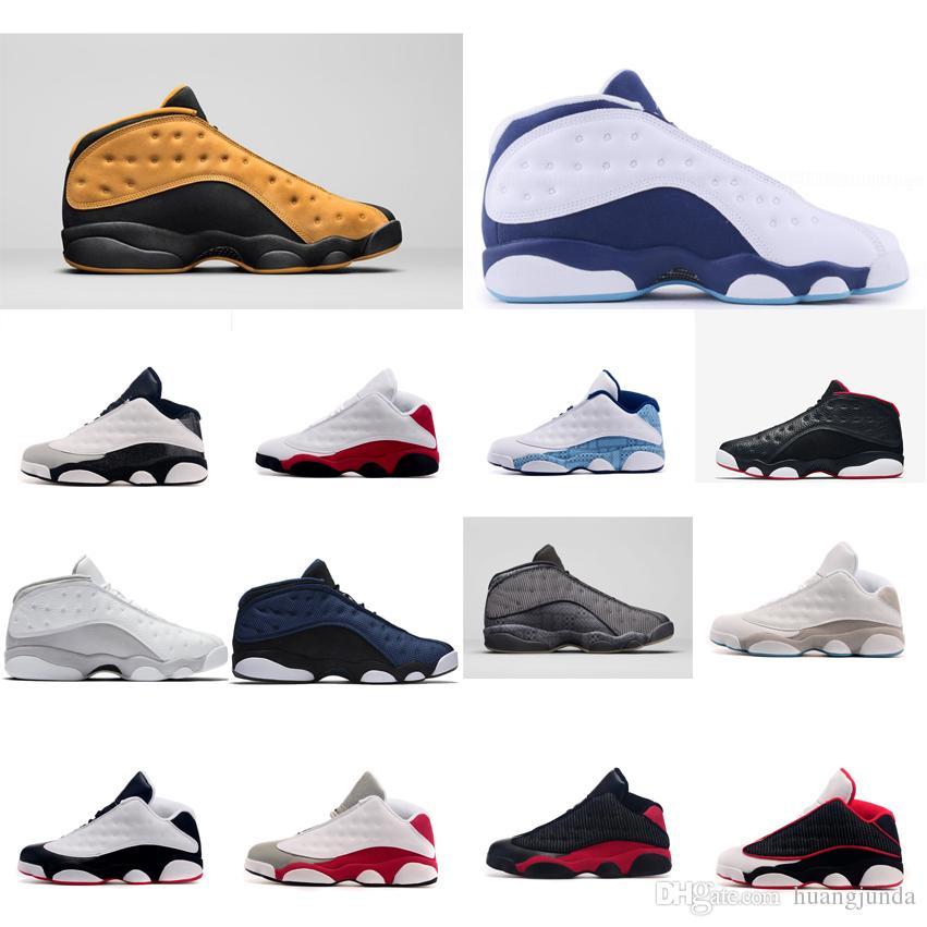 dd9a652436c7 Cheap Men Jumpman 13s Low Basketball Shoes Black Yellow White Blue ...