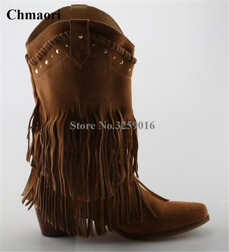 db541e2f6a Winter Women Fashion Pointed Toe Suede Leather Tassels Knight Knee High  Boots Fringes Motorcycle Long Boots Leisure Boots Uk Winter Boots From  Giaogiaoo, ...