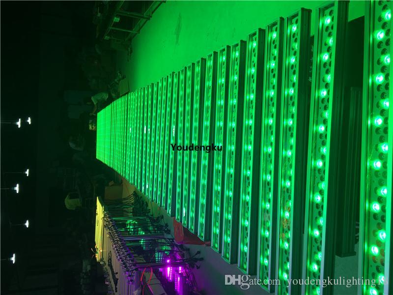 2 pièces 72x3w étanche mur lavage led dmx led rgb extérieure bar led mur de lavage