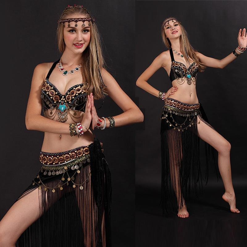 2018 Sexy Arab Tribal Belly Dance Costume Bratassel Belt Set Oriental Eastern Costume Woman Dance Clothes S  L 38 From Geraldi 75 49 Dhgate Com