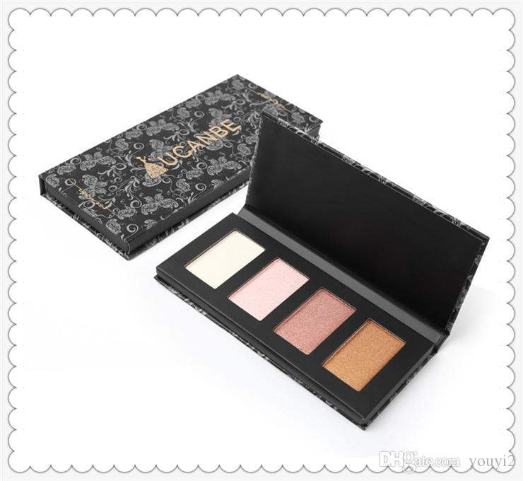 Alta qualidade ucanb popular de 4 cores de alto brilho camaleão camaleão cosméticos mix silhueta nariz sombra cor maquiagem maquiagem ferramentas 0201076