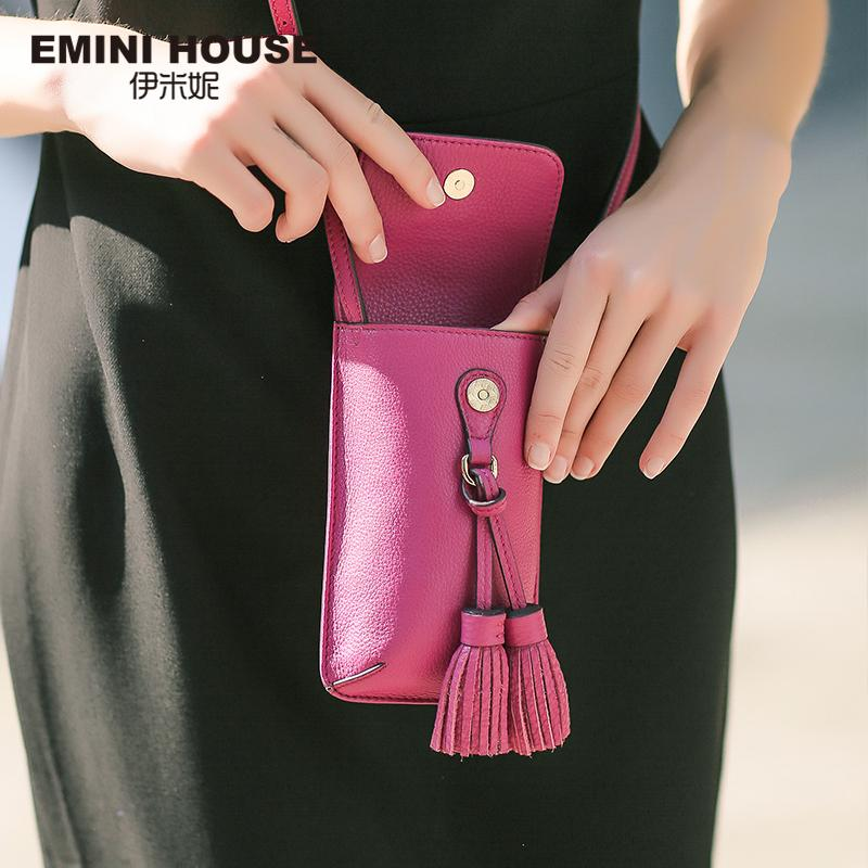 a3a2a77941 EMINI HOUSE Genuine Leather Bags For Women Tassel Phone Girls Bag Vintage  Shoulder Bag Female Crossbody Bags For Women D18101303 Weekend Bags For  Women ...
