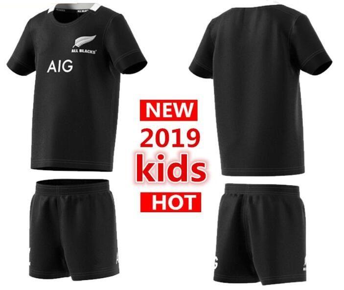c79dc3743fa 2019 2019 New Zealand All Blacks Kids Mini Kit Home Rugby Jerseys Super  Rugby Shirt All Blacks Kids Jersey From Mufasaa, $21.56 | DHgate.Com
