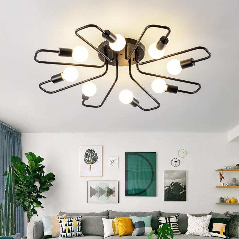 Großhandel Moderne Led Kronleuchter Deckenleuchten Innenbeleuchtung Design  Kreative Eisen Lampe Für Wohnzimmer Schlafzimmer Dekoration Kunst Von  Hogon, ...