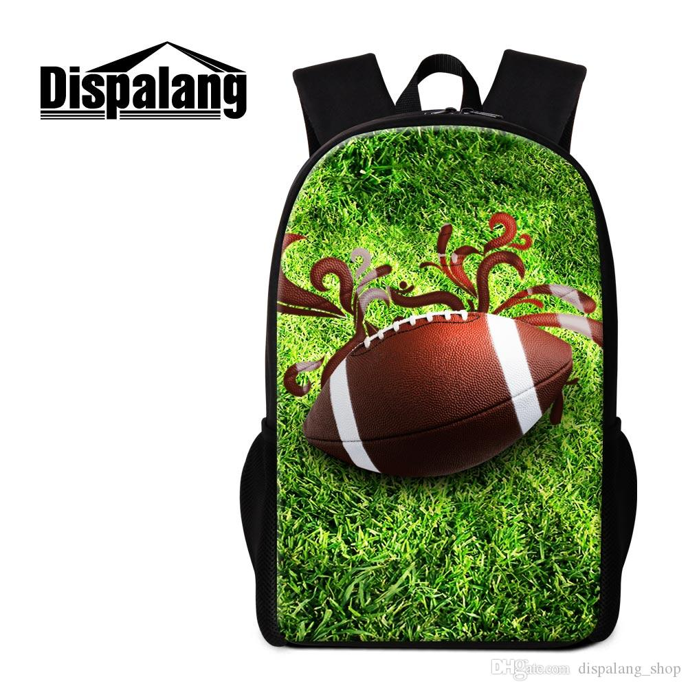 07b8c8f9645a Custom Backpacks for Teenagers Personalized Bookbags for College Students  Men's Fashion Back Bags 3D Print Rugby on Very Stylish Rucksack