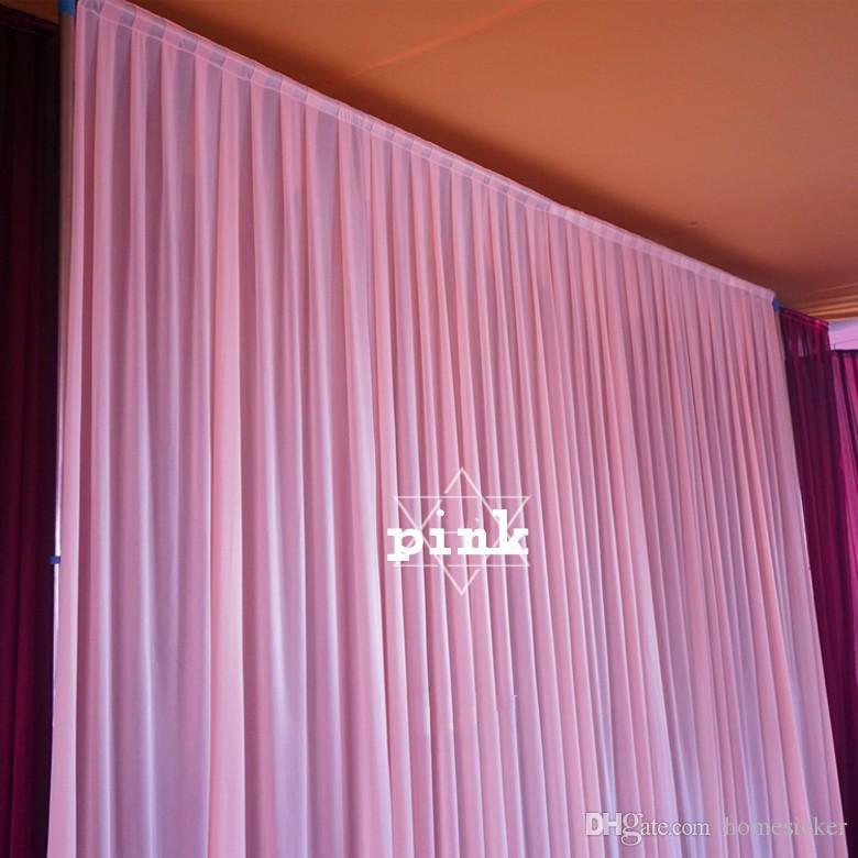 Herhangi bir renk için 3 m * 3 m backdrop Parti Perde festivali Kutlama düğün Sahne Performansı Arka Plan Örtüsü Örtü Duvar valane backcloth