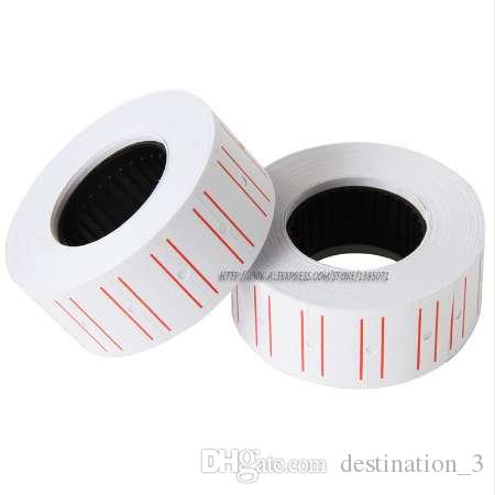 Promotional One Roll 500pcs White Adhesive Price Labels Paper Tag Mark  Sticker For MX-5500 Price Gun Labeller