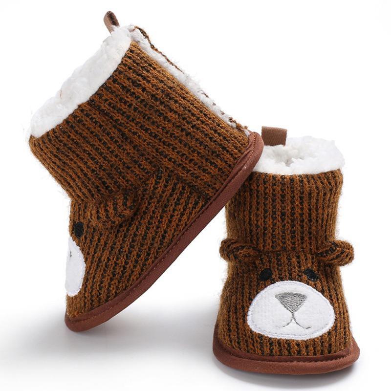4d71b7dce Compre Bebé Caliente Oso Lindo Botas De Nieve Más Terciopelo Zapatos Suaves  Y Cálidos Botas Recién Nacidos 2018 Nuevos Zapatos De Bebé De Invierno  Infantil ...