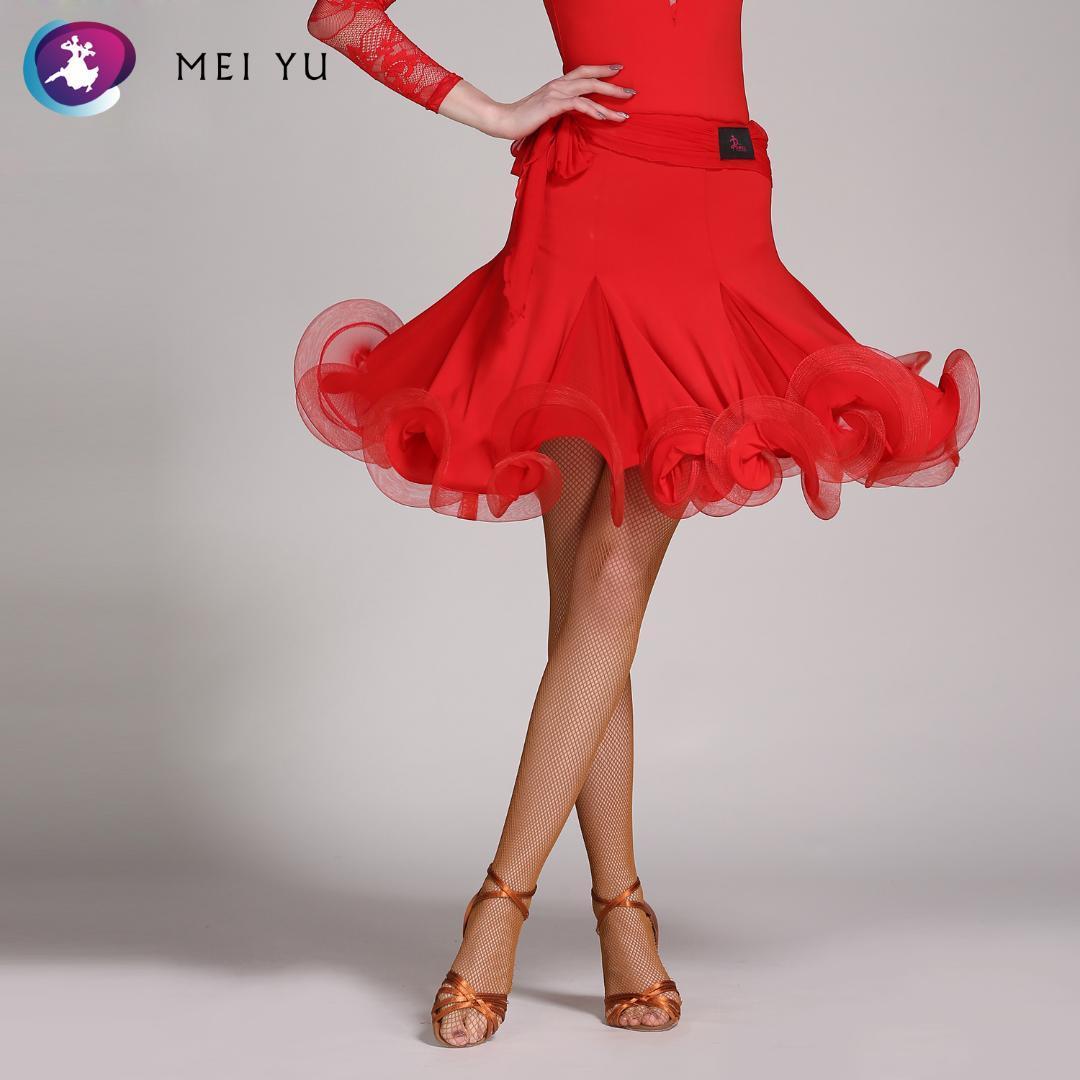 wholesale dealer d870a 233a2 MEI YU 322 gonna da ballo latino rumba cha cha costume da ballo donna  signora adulto discoteca vestito da sera da sera vestito gonna attillata