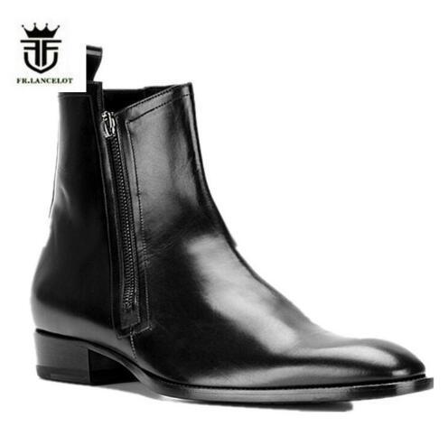 Acquista 2018 FR.LANCELOT Enuine Leather Fashion Chelsea Boots Side Zipper  Uomo Scarpe Da Ginnastica Scarpe Da Uomo Con Tacco Basso A  179.53 Dal  Keroyeah ... a66704b691d