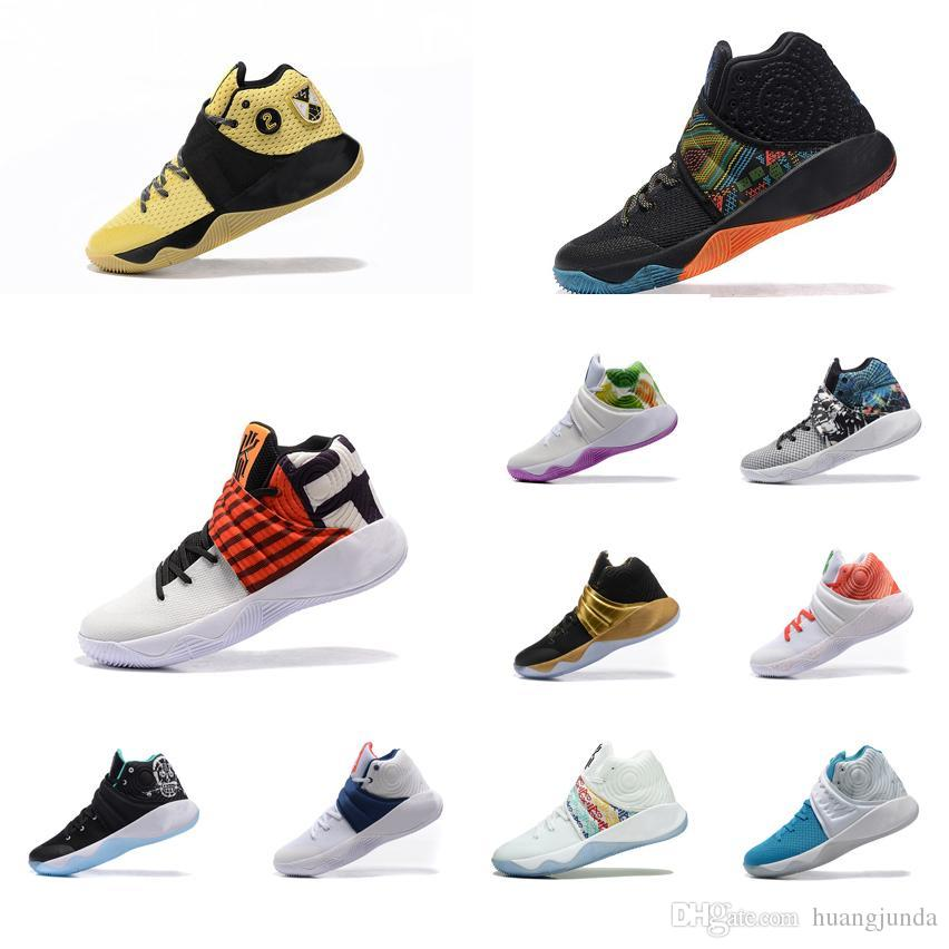 146891be6421a 2019 Cheap Mens Kyrie Irving 2 Basketball Shoes Gold Black Green Bhm  Christmas Easter White Air Flights Sneakers Boots Tennis For Sale With Box  From ...
