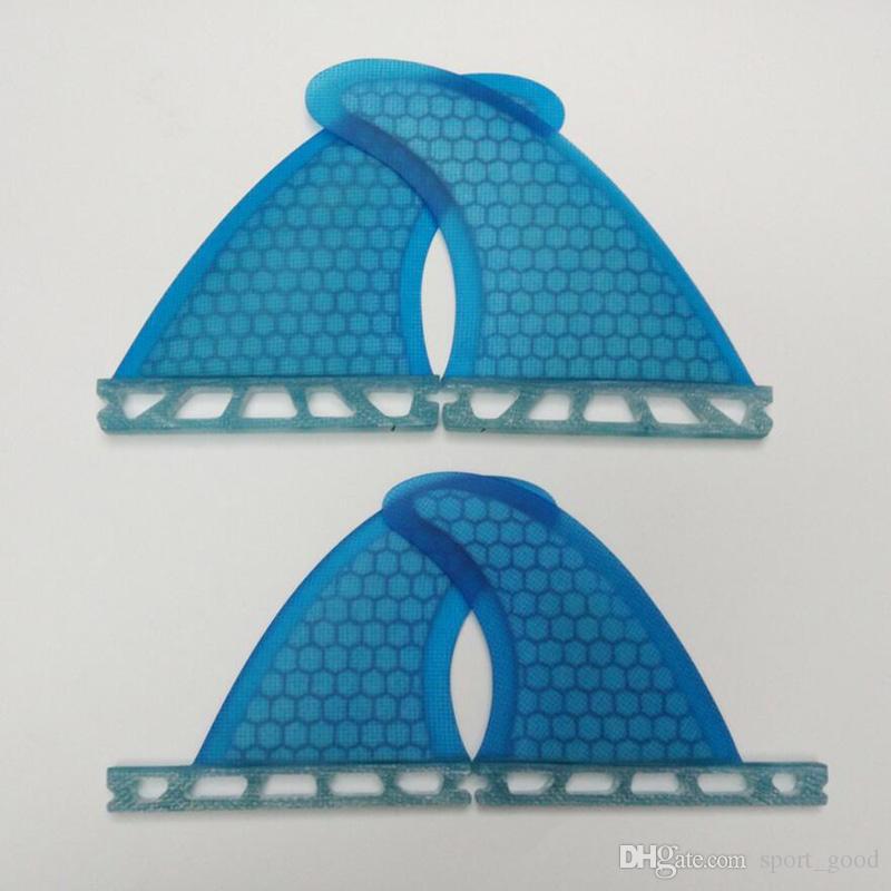 Novos Pranchas de Surf Acessórios Barbatanas Prancha de Surf Quad Finss Laranja Azul Favo De Mel Barb Fibra De Vidro de Surf Quad Fin Leme para Venda