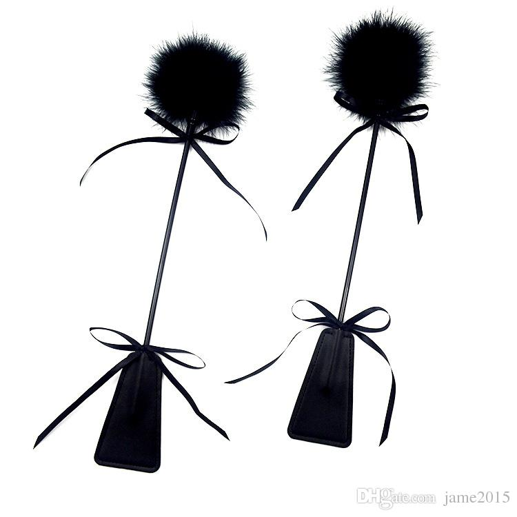 Sex Toy Feather Whip PU Leather Paddle Whip Spanking Paddle Flirting Toys Adult Games Fetish Sex Products For Couples