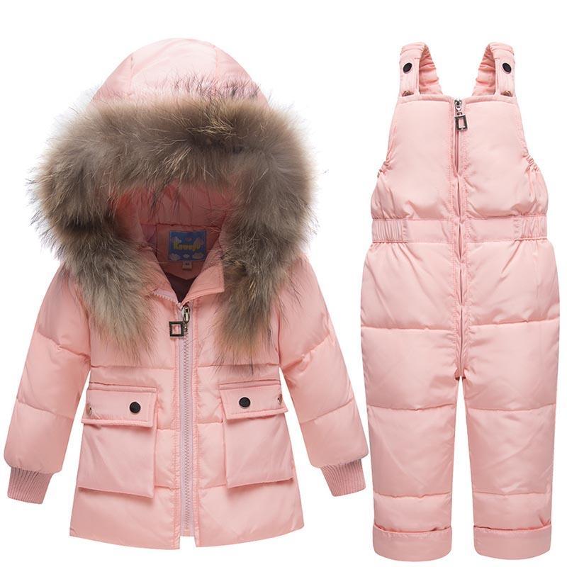 689910325 Compre Ropa De Invierno Para Niños Niños Abajo Trajes 2018 Baby Girl Jacket  Clothes Sets Overoles Warm Children Outerwear + Mono Traje De Neopreno A   57.46 ...