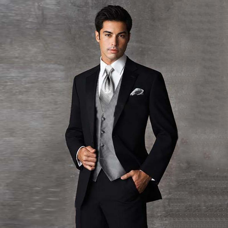 b36dd1a673 2018 última capa pantalones diseños negro hombres trajes elegante elegante  traje casual slim fit blazer boda de negocios masculinos trajes de etiqueta  3 ...